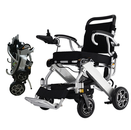 Bangeran-N32 Electric Power Wheelchair-Lightweight 50 lbs only Heavy Duty Supports 330 lbs Aircraft