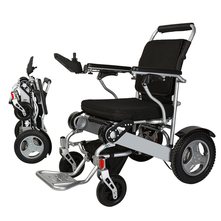 Bangeran Electric Wheelchair Folding Lightweight 50 lbs with Batteries Heavy Duty Supports 360 lbs